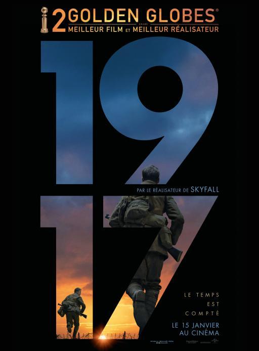 """Affiche du film """"1917"""" actuellement en salle au cinéma Urania"""