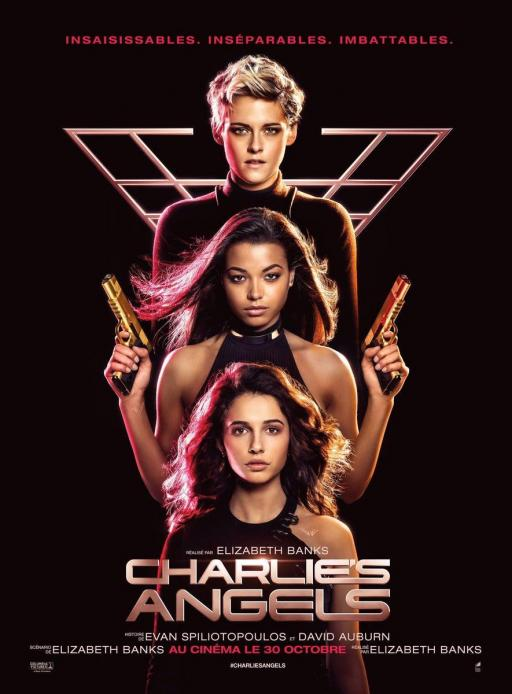 """Affiche du film """"Charlie's Angels"""" actuellement en salle au cinéma Urania"""