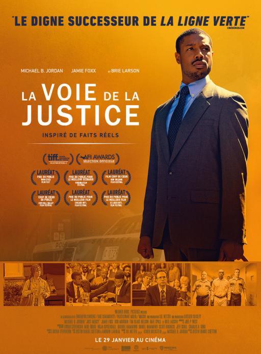 """Affiche du film """"La Voie de la justice"""" actuellement en salle au cinéma Urania"""