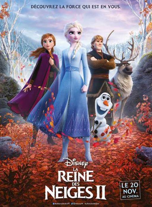 """Affiche du film """"La Reine des neiges 2 """" actuellement en salle au cinéma Urania"""