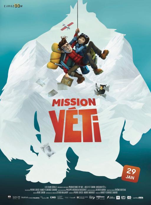 """Affiche du film """"Mission Yéti"""" actuellement en salle au cinéma Urania"""