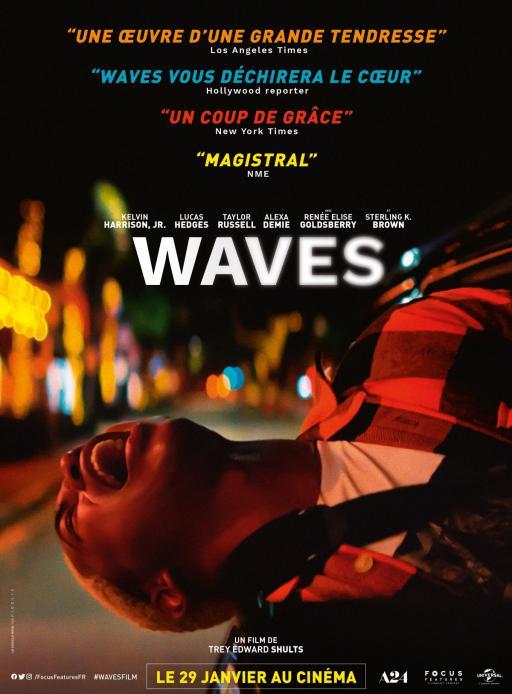 """Affiche du film """"Waves"""" actuellement en salle au cinéma Urania"""